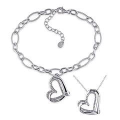 Womens 2-pc. Diamond Accent White Diamond Accent Sterling Silver Jewelry Set