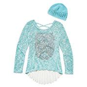 Knit Works Long Sleeve Layered Top - Big Kid