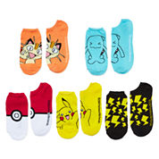 Pokemon Boys 5-pk. No Show Socks