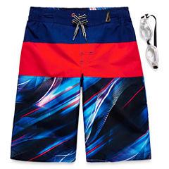 Zeroxposur Boys Universe Swim Trunks-Big Kid