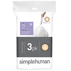simplehuman® Custom-Fit Trash Can Liners Code Q - 60-pack