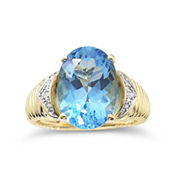Womens 1/3 CT. T.W. Blue Topaz Cocktail Ring
