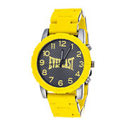 Everlast® Mens Yellow Silicone Strap Sport Watch
