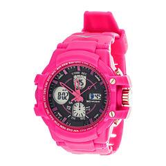 Everlast® Womens Pink Strap Analog/Digital Sport Watch