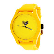 Everlast® Mens Yellow Silicone Strap Sport Watch