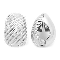 Monet® Silver-Tone Swirled Clip-On Earrings