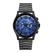 Caravelle New York® Mens Blue Round Dial & Black Bracelet Chronograph 45A106
