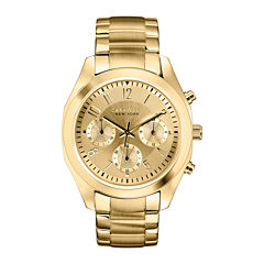 Caravelle New York® Womens Gold-Tone Dial Bracelet Chronograph Watch 44L118
