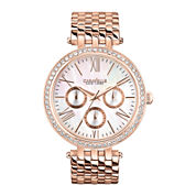 Caravelle New York® Womens Mother-of-Pearl with Rose-Tone Bracelet Watch 44N101