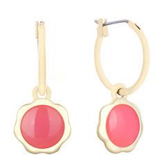 Liz Claiborne Pink Hoop Earrings