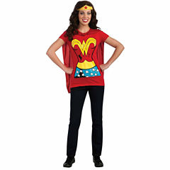 Wonder Woman T-Shirt Adult Costume Kit - Medium