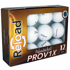 12 Pack Titleist PROV1X Refinished Golf Balls.