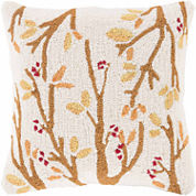 Surya Autumn Branches Rectangle Throw Pillow