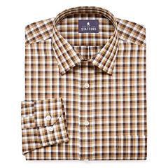STAFFORD TRAVEL EASY-CARE LONG-SLEEVE BROADCLOTH DRESS SHIRT