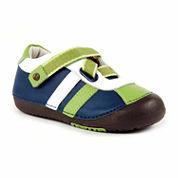 Boys Z Strap Leather Sneaker Shoes