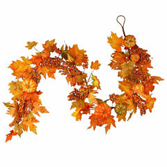 National Tree Co. 70 Inch Maples And Pumpkin Garland