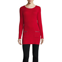 Alyx Long Sleeve Scoop Neck Pullover Sweater