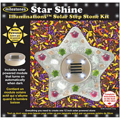 Milestones Illuminations Star Shine Solar Step Stone Kit