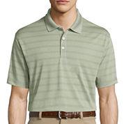 Haggar® Short-Sleeve Striped Poly Polo
