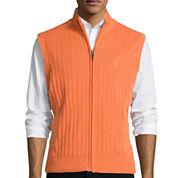 Dockers® Full-Zip Cotton Sweater Vest