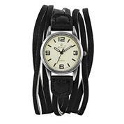 Decree Womens Black Strap Watch-Pt1692