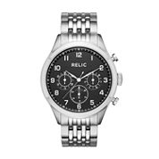 Relic Mens Silver Tone Bracelet Watch-Zr15883