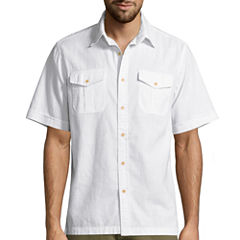 St. John's Bay Solid Crosshatch Shirt
