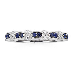 I Said Yes™  Genuine & Lab-Created Blue Sapphire Vintage-Style Band