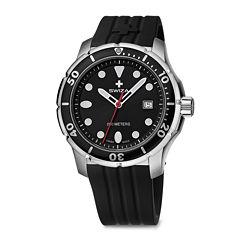 SWIZA Tetis Mens Black Silicone Strap Watch