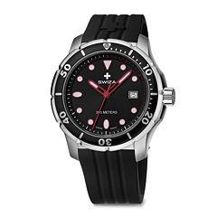 SWIZA Tetis Mens Black Strap Watch