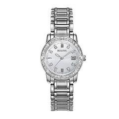 Bulova® Womens 1/8 CT. T.W. Diamond Watch 96R105