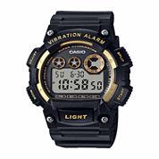 Casio Table Mens Black Strap Watch-W735h-1a2vpb