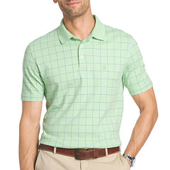 IZOD Short Sleeve Grid Interlock Polo Shirt