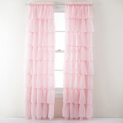 Gypsy Ruffled Rod-Pocket Sheer Panel