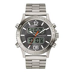 Caravelle New York® Mens Stainless Steel Analog/Digital Sport Watch 43B141