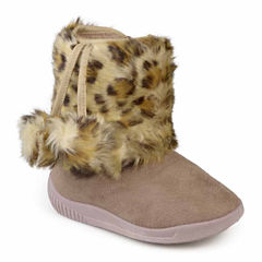 Journee Pom Animal Print Girls Boots - Little Kids