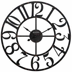 Bulova Gabriel Rustic Brown Finish Wall Clock-C4821