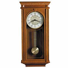 Bulova Manorcourt Golden Oak Finish Wall Clock-C4419