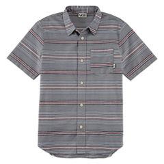 Vans Short Sleeve Button-Front Shirt Boys