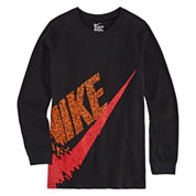 Nike Boys Long Sleeve T-Shirt-Big Kid