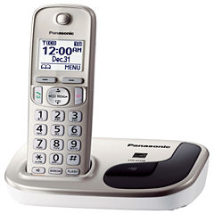 Panasonic KX-TGD210N Expandable Digital Cordless Phone with 1 Handset - Champagne Gold