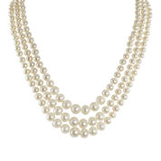 Cultured Freshwater Pearl Graduated 3-Strand Necklace