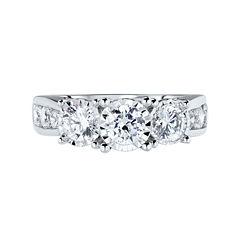 TruMiracle® 2 CT. T.W. Round Diamond 3-Stone Engagement Ring