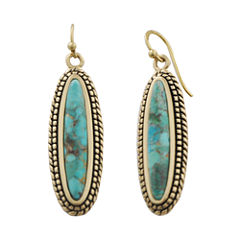 Art Smith by BARSE Brass & Turquoise Drop Earrings