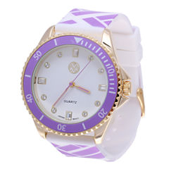 Womens Macbeth Purple and White Silicone Watch