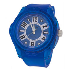 Zunammy® Mens Blue Silicone Watch