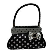 Black & White Polka Dot Purse Ring Holder