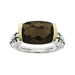 Shey Couture Smoky QuartzSterling Silver Antiqued Ring
