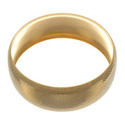 18K Yellow Gold Ion-Plated Stainless Steel Bangle Bracelet