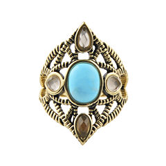 Art Smith by BARSE Multi-Stone Brass Ring